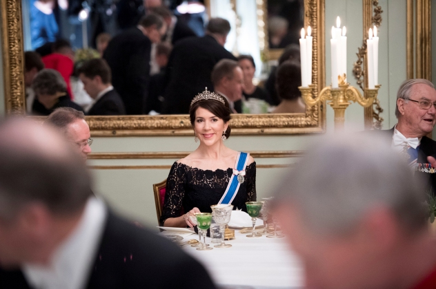 Danish Crown Princess Mary attends the Gala Dinner at Amalienbog Castle